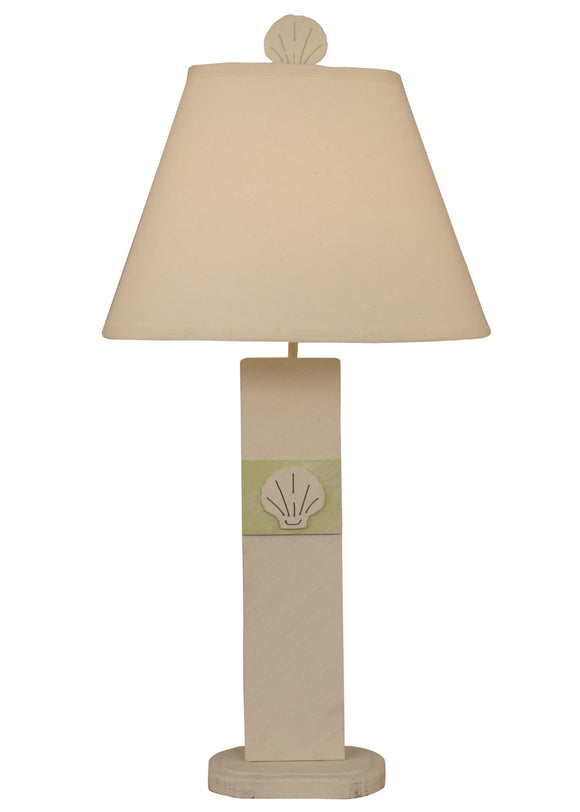 Cottage/Lake Marsh Shell Panel Table Lamp - Coast Lamp Shop