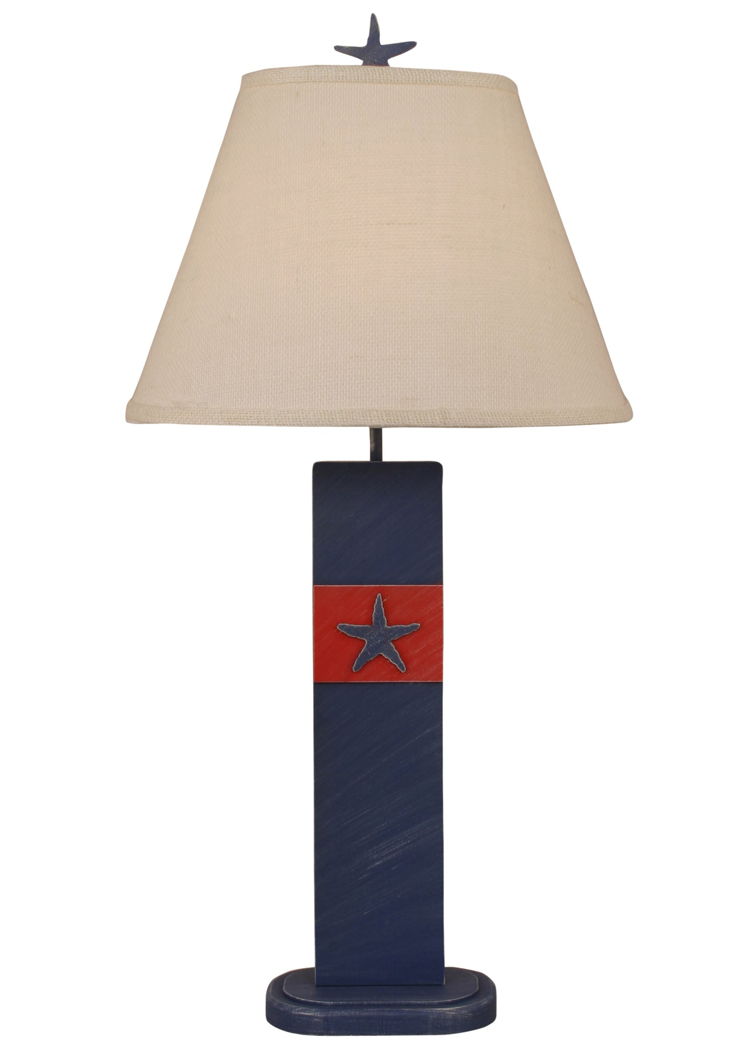 Cottage Morning Jewel/Classic Red Star Fish Table Lamp - Coast Lamp Shop