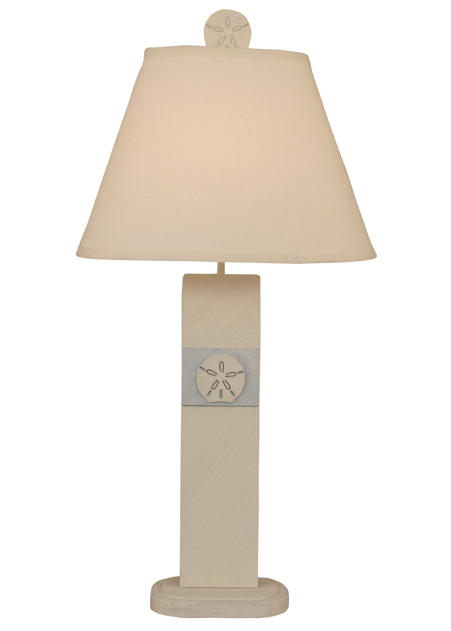 Shoreline Haze/Sea Side Villa Sand Dollar Panel Table Lamp - Coast Lamp Shop
