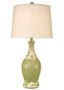 Tattered Lime Ribbed Tear Drop Table Lamp - Coast Lamp Shop