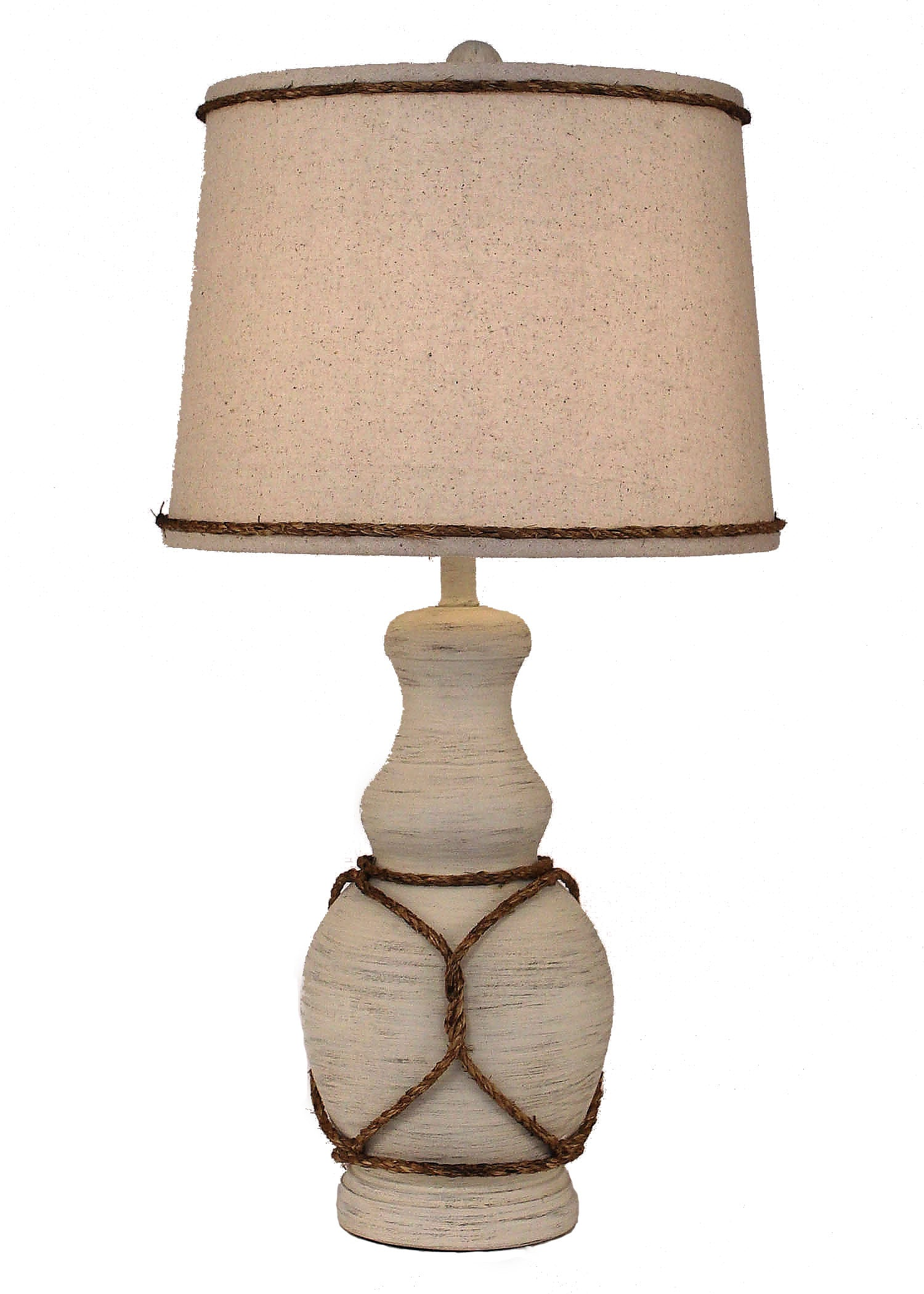 Cottage Classic Casual Table Lamp w/ Rope Accent - Coast Lamp Shop