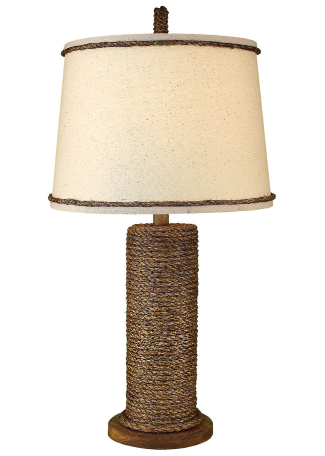 Manila Rope Spindle Table Lamp - Coast Lamp Shop