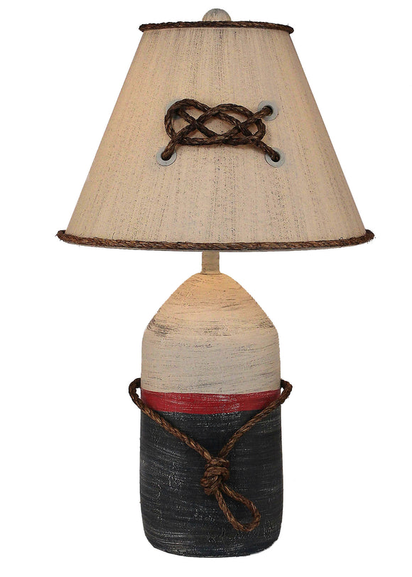 Primary Large Buoy w/ Rope Table Lamp - Coast Lamp Shop