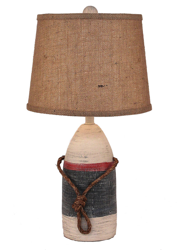 Primary Small Buoy w/ Rope Accent Lamp - Coast Lamp Shop