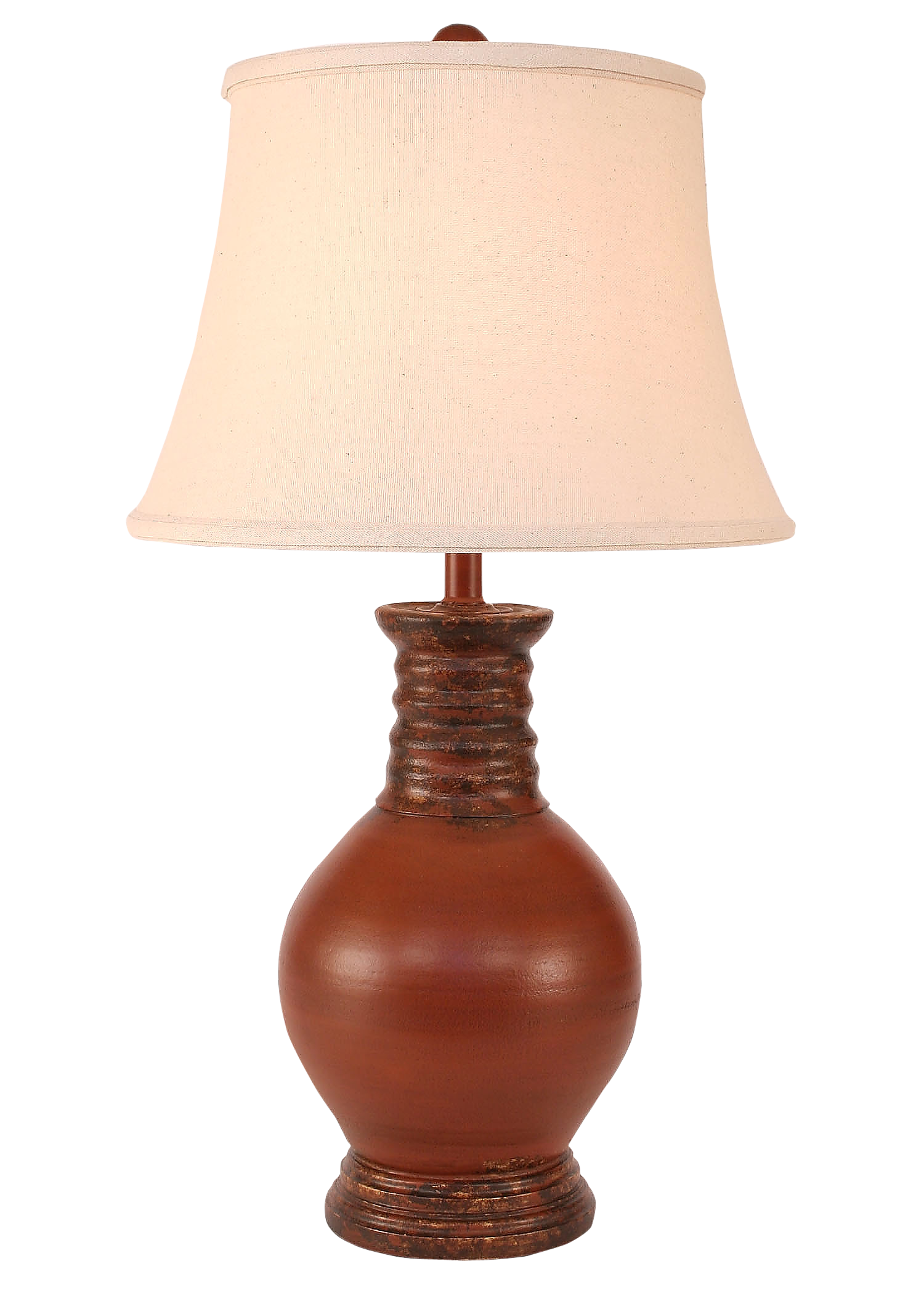 Aged Spice Bulbous Table Lamp - Coast Lamp Shop