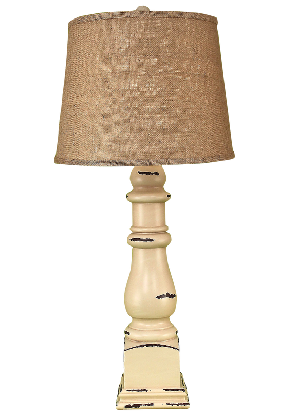 Distressed Cottage Country Squire Table Lamp - Coast Lamp Shop