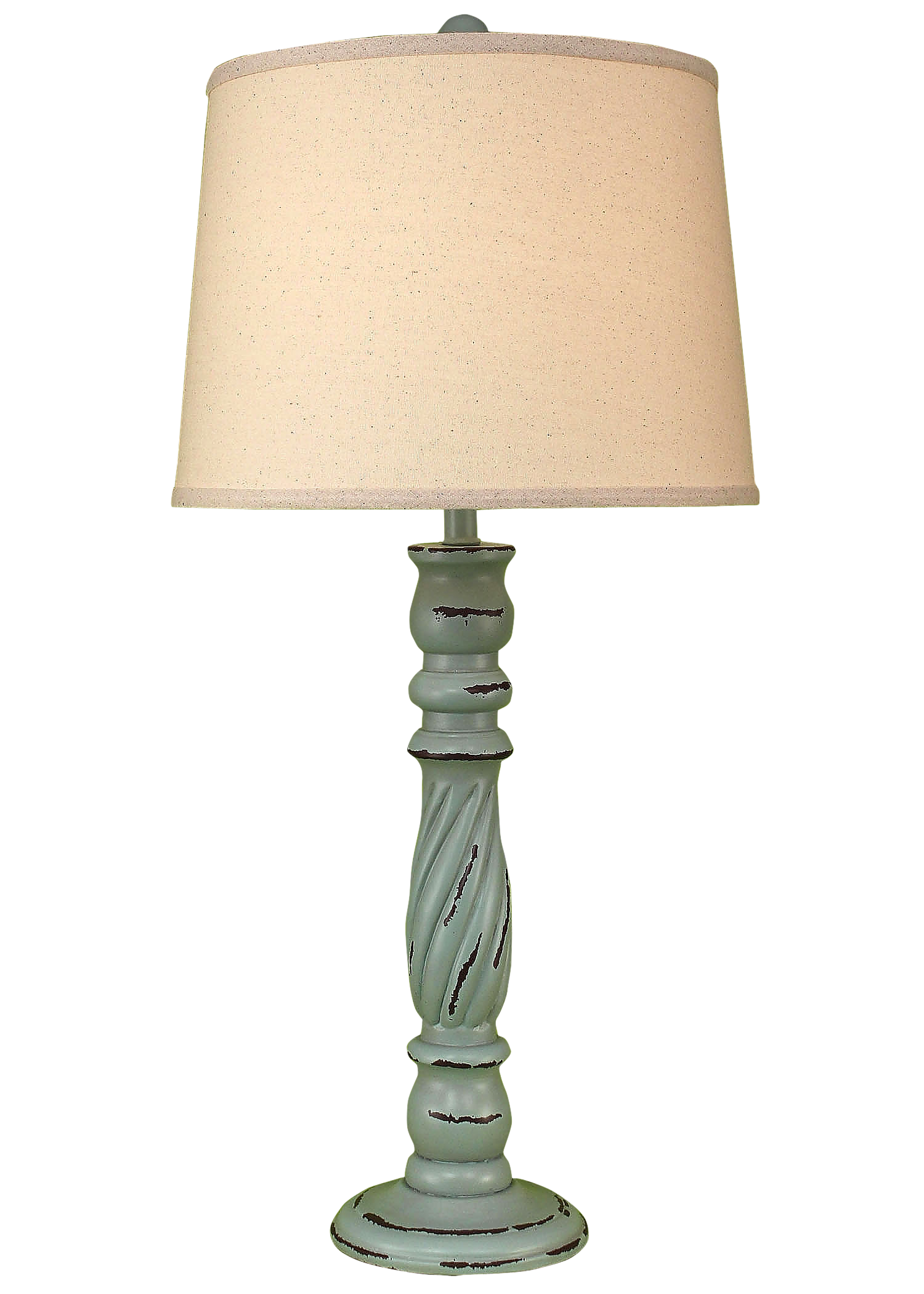 Distressed Atlantic Grey Swirl Table Lamp - Coast Lamp Shop
