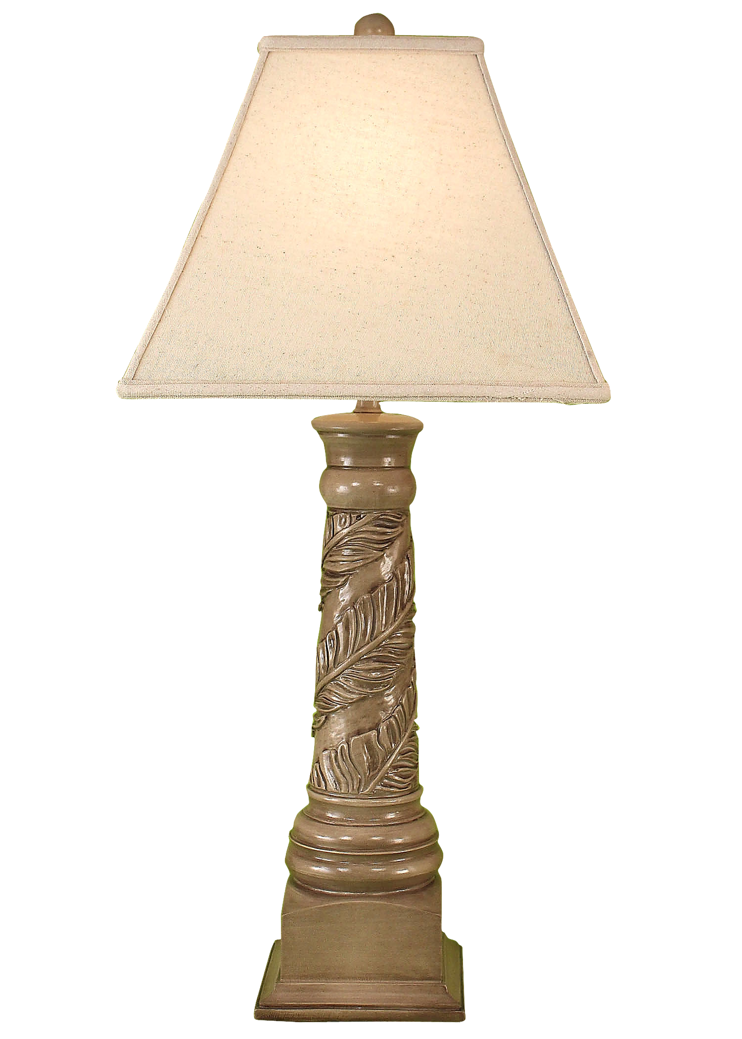 Cottage Glaze Banana Leaf Table Lamp - Coast Lamp Shop