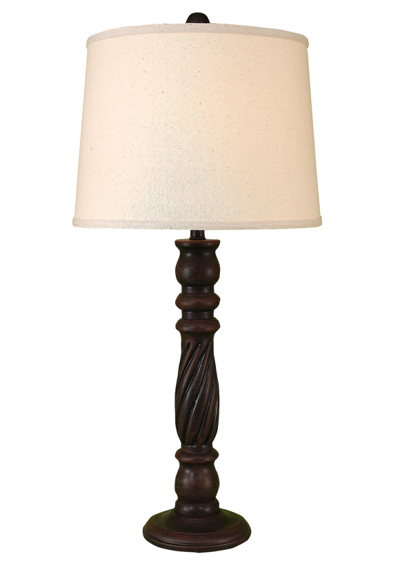 Rust Streaked Swirl Table Lamp - Coast Lamp Shop