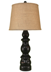Distressed Black Farmhouse Table Lamp - Coast Lamp Shop