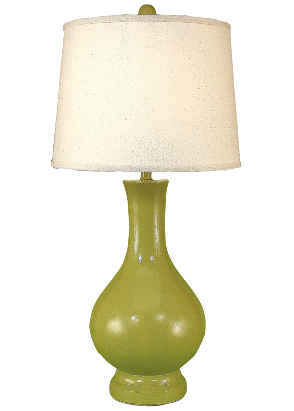 High Gloss Lime Large Genie Tabe Lamp - Coast Lamp Shop
