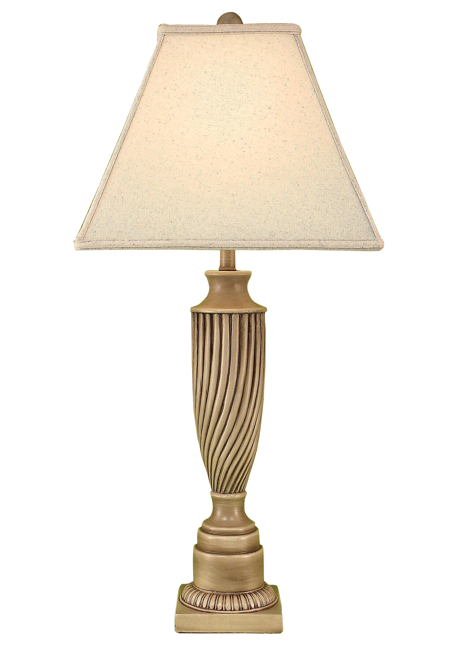 Glazed Cottage Royal Billowed Table Lamp - Coast Lamp Shop
