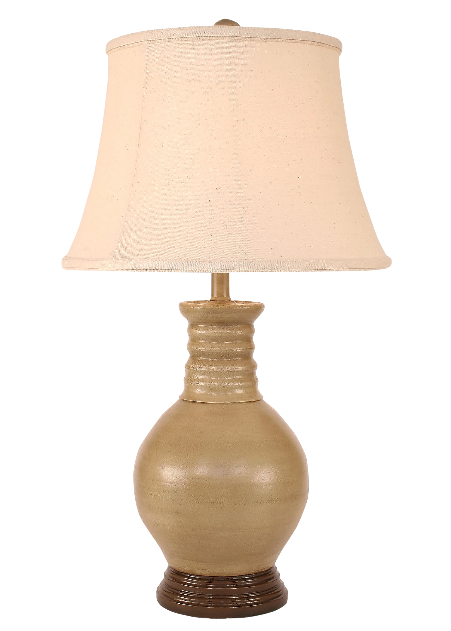 Glazed Cottage Bulbous Table Lamp - Coast Lamp Shop