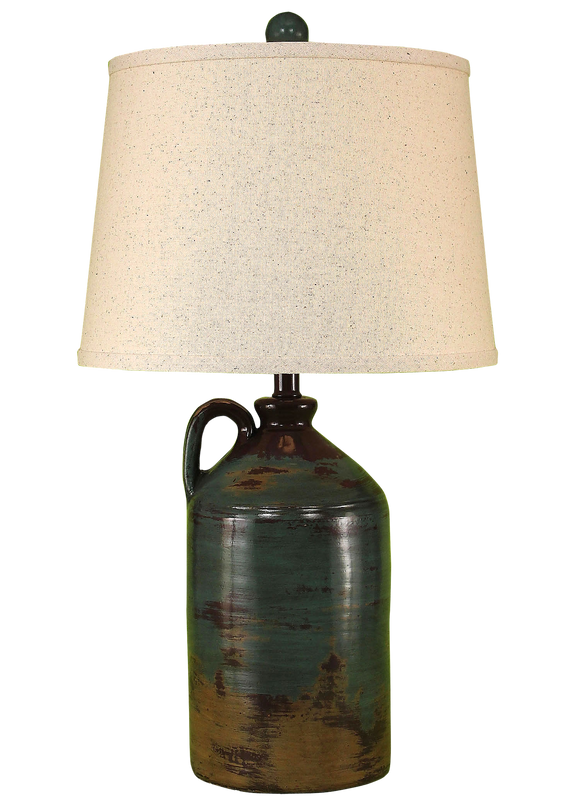 Harvest 1 Handled Pottery Table Lamp - Coast Lamp Shop