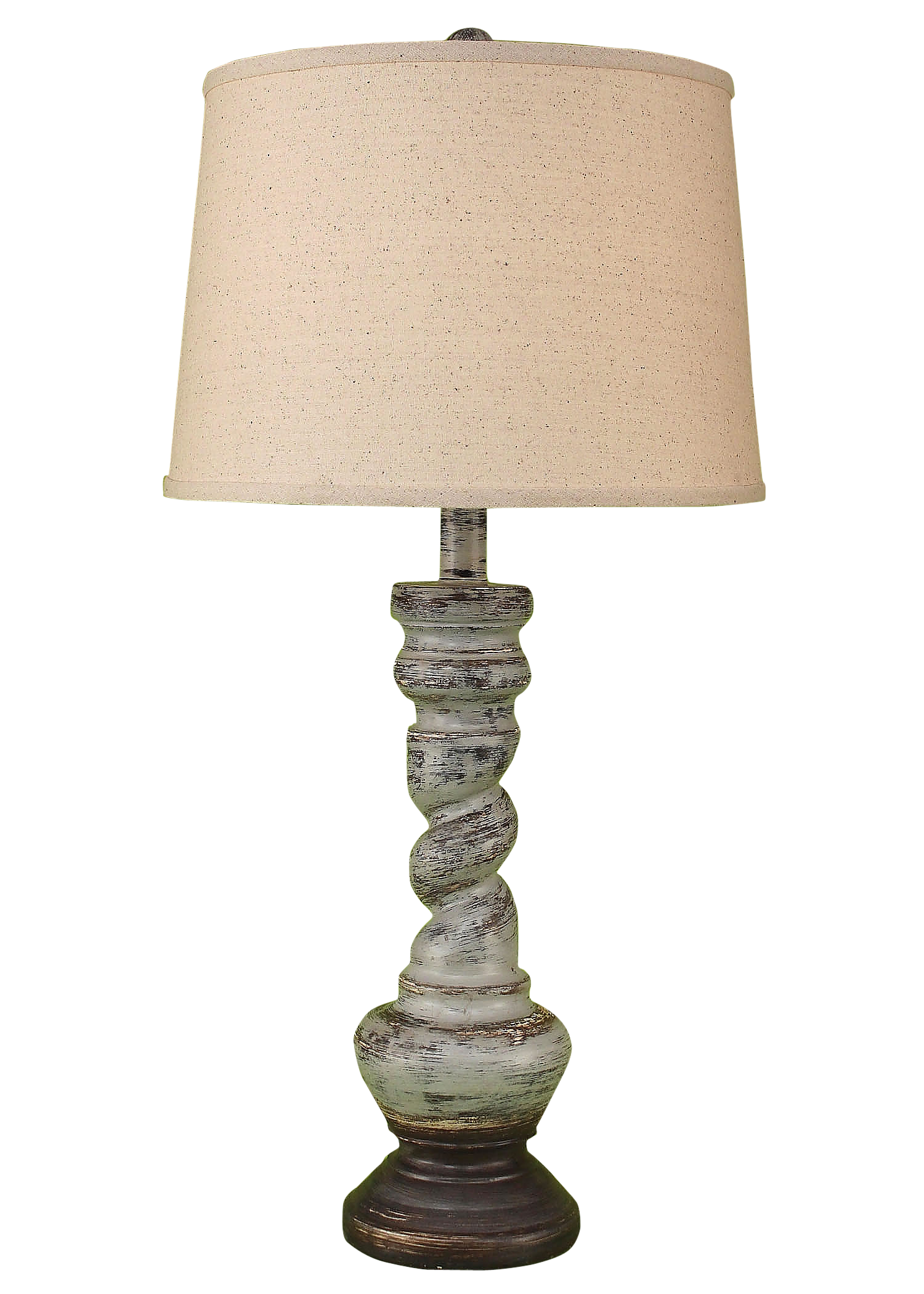 Greystone Country Twist Table Lamp - Coast Lamp Shop