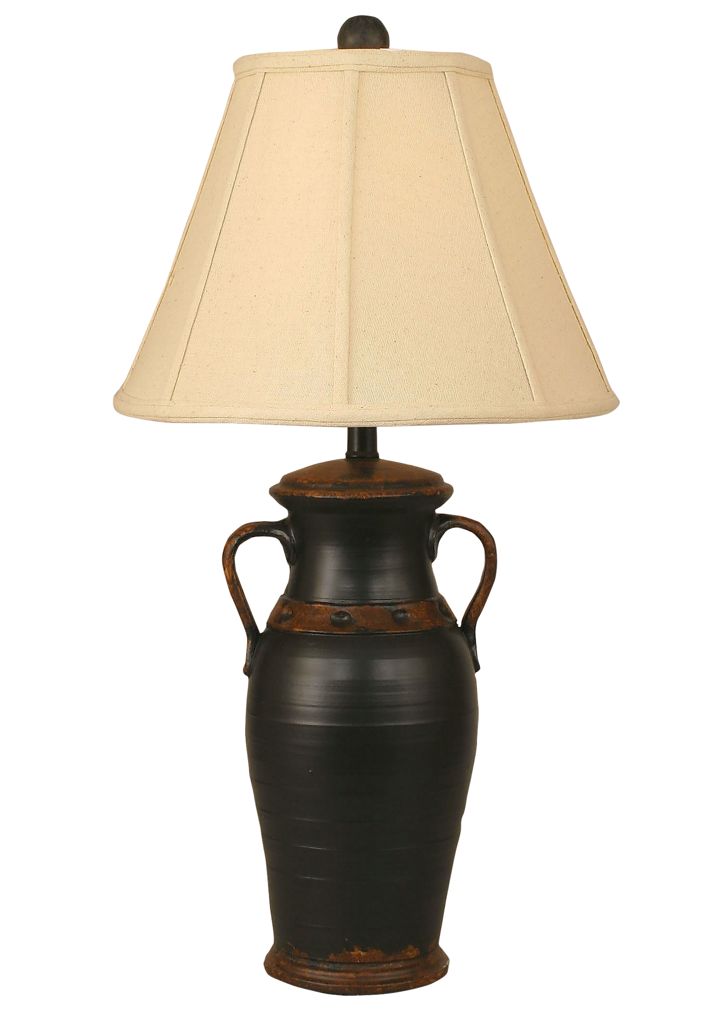 Aged Black Two Handled Vase Table Lamp - Coast Lamp Shop