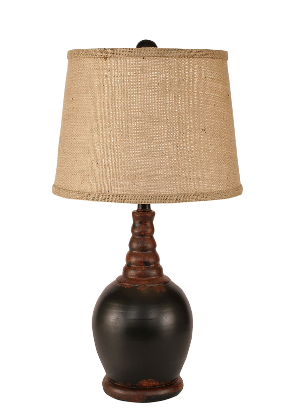 Aged Black Bulbous Accent Lamp - Coast Lamp Shop