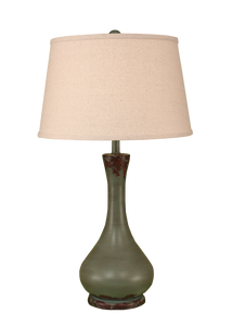 Aged Atlantic Grey Smooth Genie Bottle Table Lamp - Coast Lamp Shop