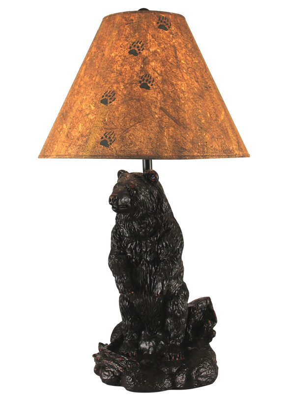 Standing Bear Table Lamp - Coast Lamp Shop