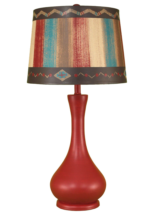 Rio Smooth Genie Bottle Table Lamp w/ Drum Shade - Coast Lamp Shop