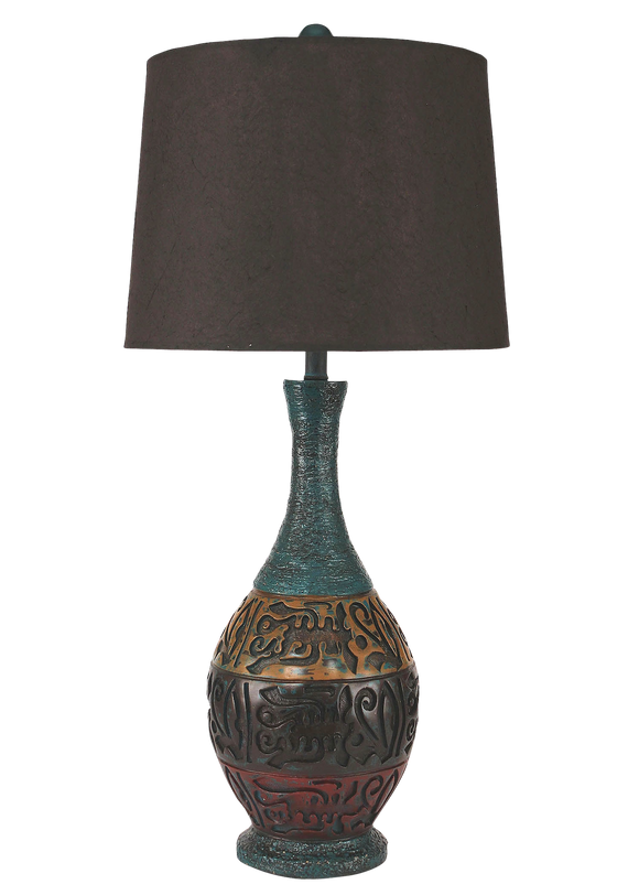 Sante Fe Mediterranean Table Lamp - Coast Lamp Shop