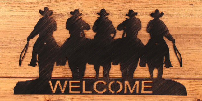 Iron Cowboy Welcome Sign - Coast Lamp Shop