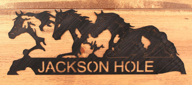 Iron Horses Personalized Sign - Coast Lamp Shop