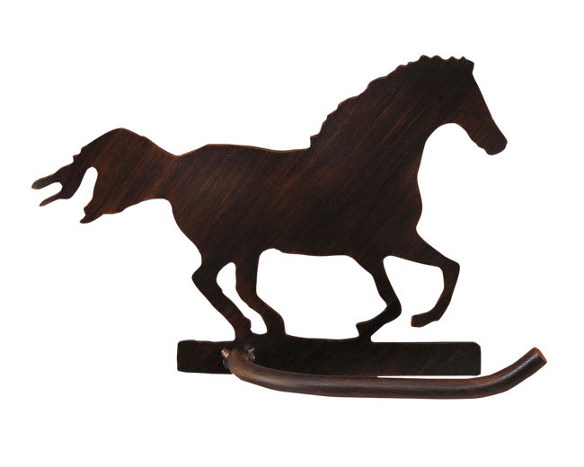Iron Running Horse Arm Toilet Paper Holder - Coast Lamp Shop