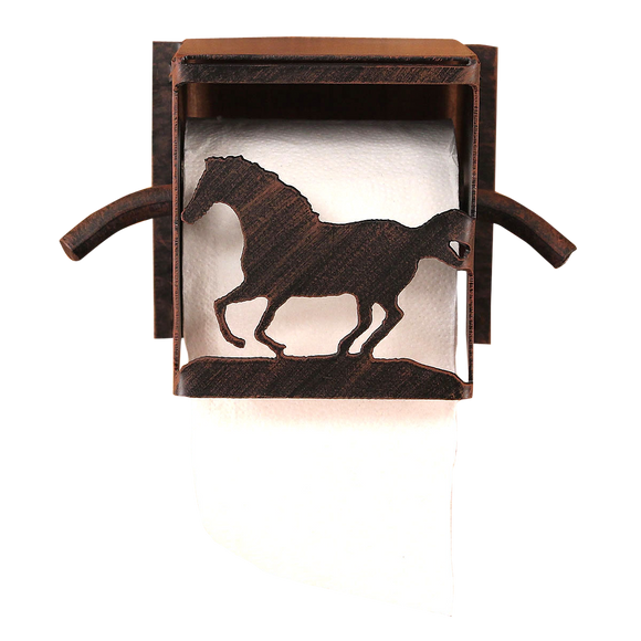 Iron Running Horse Toilet Paper Box - Coast Lamp Shop