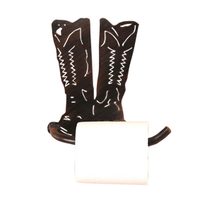Iron Cowboy Boots Arm Toilet Paper Holder - Coast Lamp Shop