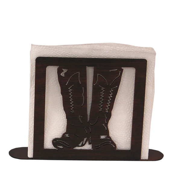 Iron Cowboy Boots Napkin Holder - Coast Lamp Shop