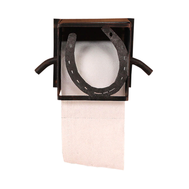 Iron Horseshoe Toilet Paper Box - Coast Lamp Shop