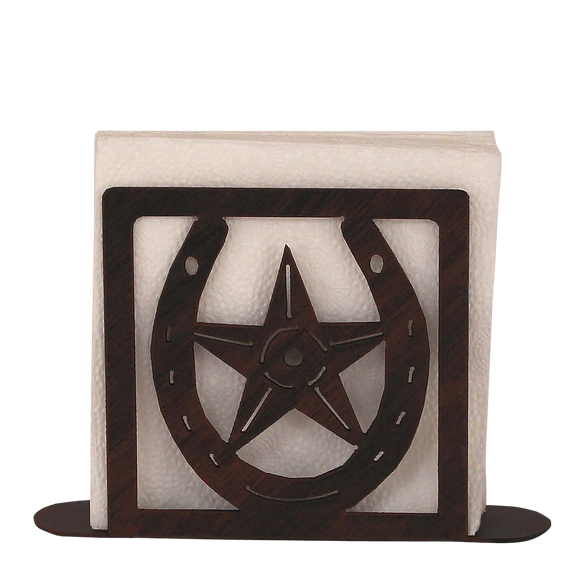 Iron Horseshoe/Star Napkin Holder - Coast Lamp Shop