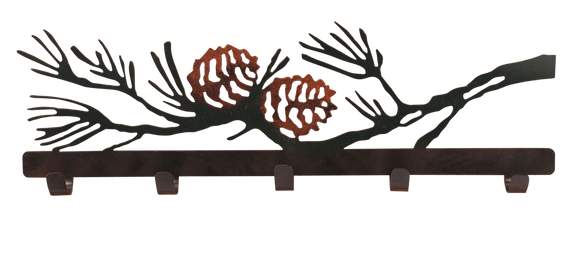 Iron Pine Cone Branch Coat Rack - Coast Lamp Shop