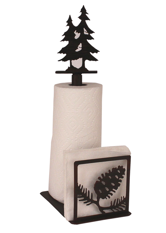 Iron Pine Cone Paper Towel and Napkin Holder - Coast Lamp Shop
