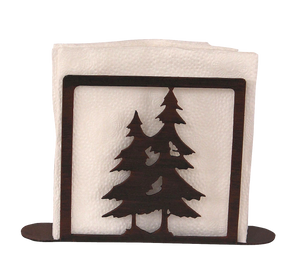 Iron Double Pine Tree Napkin Holder - Coast Lamp Shop