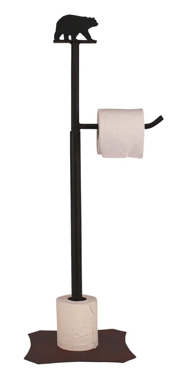 Iron Bear Toilet Paper Stand - Coast Lamp Shop