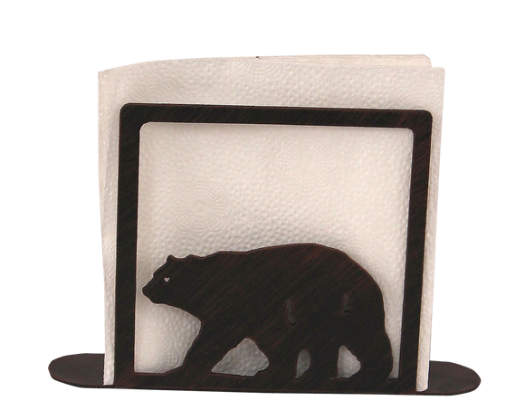 Iron Bear Napkin Holder - Coast Lamp Shop