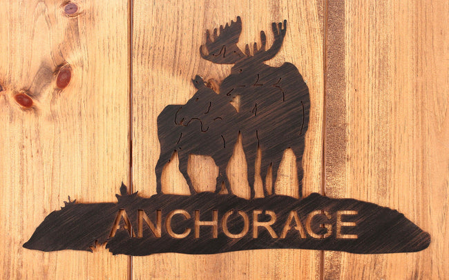 Iron Moose Personalized Sign - Coast Lamp Shop
