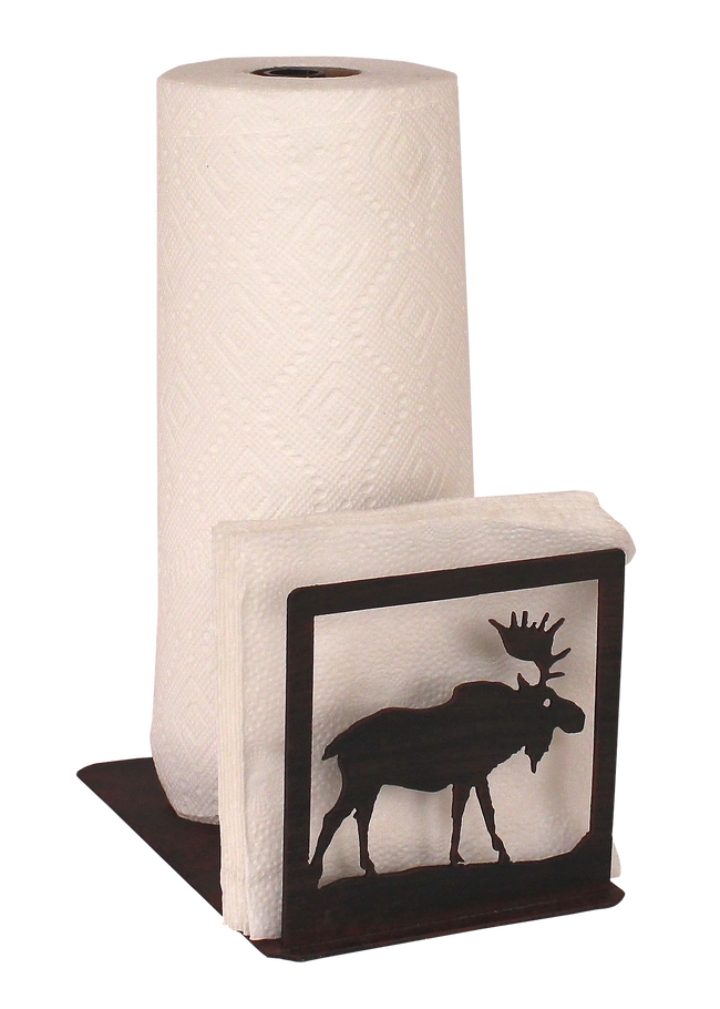 Iron Moose Short Paper Towel and Napkin Holder - Coast Lamp Shop