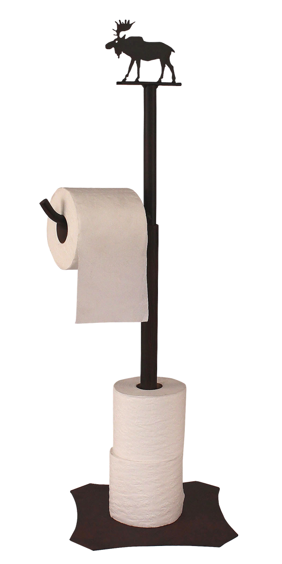 Iron Moose Toilet Paper Stand - Coast Lamp Shop