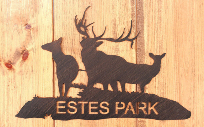 Iron Elk Family Personalized Sign - Coast Lamp Shop