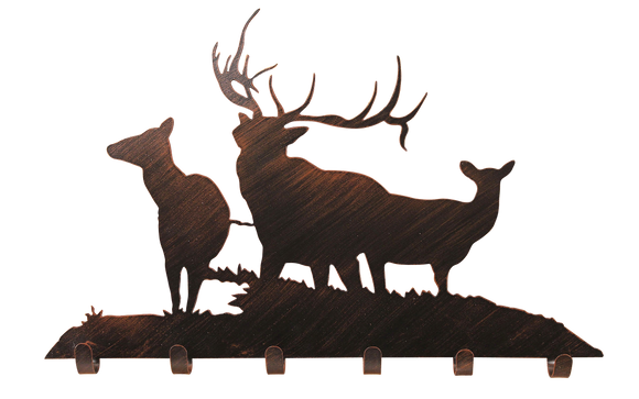 Iron Elk Family Coat Rack - Coast Lamp Shop