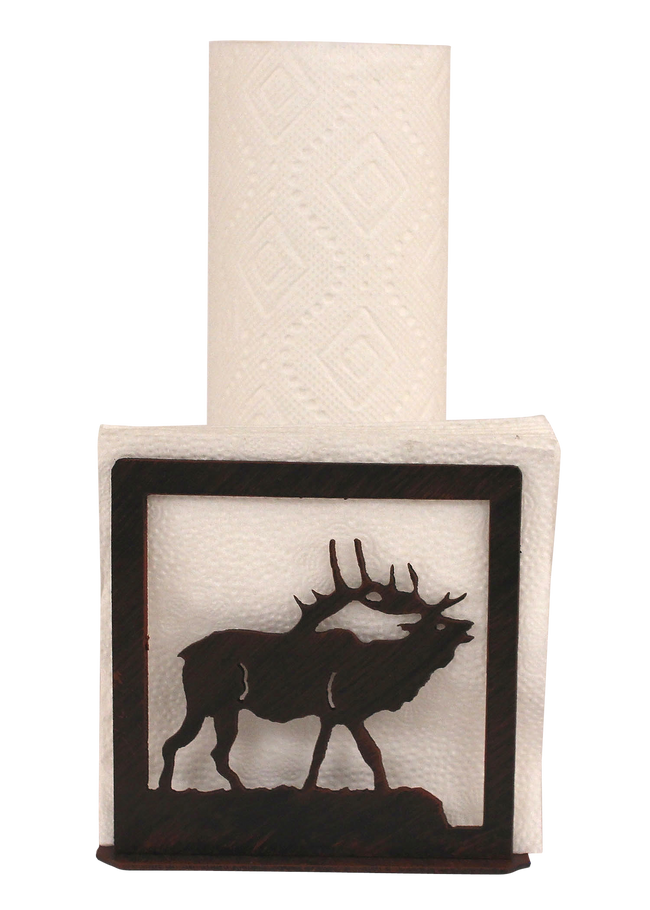 Iron Elk Short Paper Towel and Napkin Holder - Coast Lamp Shop