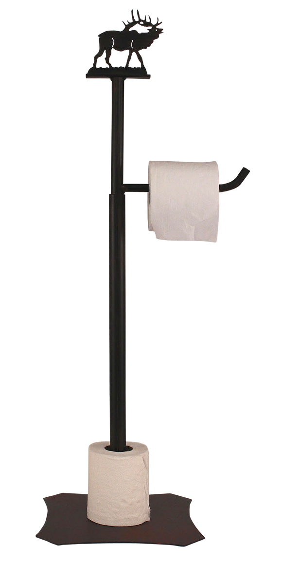 Iron Elk Toilet Paper Stand - Coast Lamp Shop