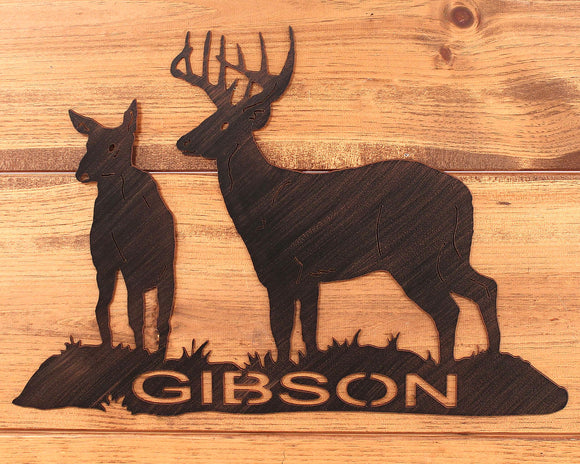 Iron Deer Personalized Sign - Coast Lamp Shop