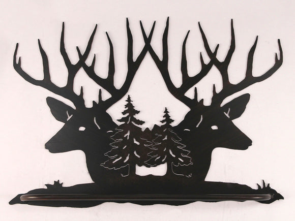 Iron Deer Head Scene Towel Bar - Coast Lamp Shop