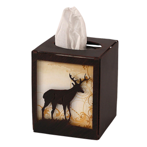 Iron Deer Square Tissue Box Cover - Coast Lamp Shop