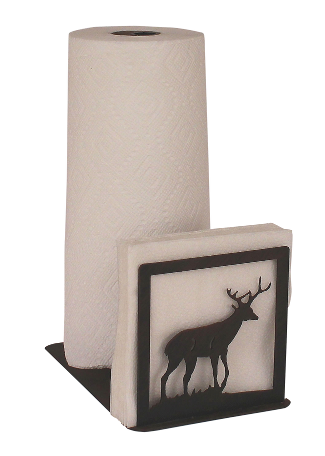 Iron Deer Short Paper Towel and Napkin Holder - Coast Lamp Shop