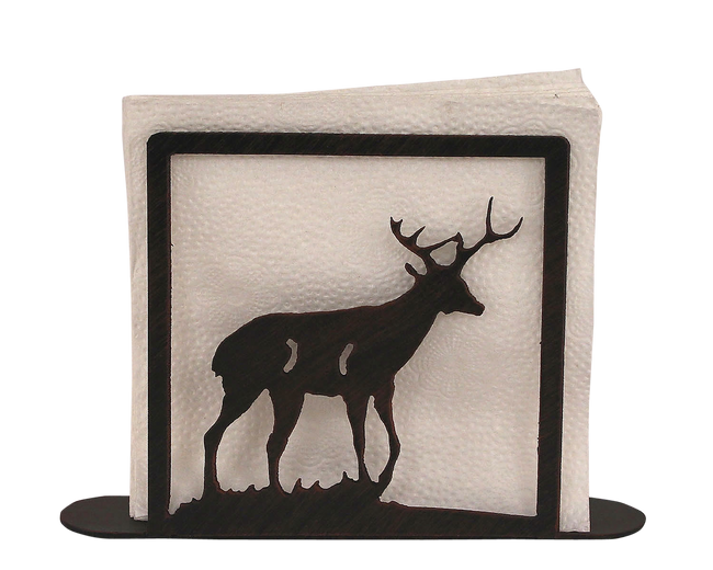 Iron Deer Napkin Holder - Coast Lamp Shop